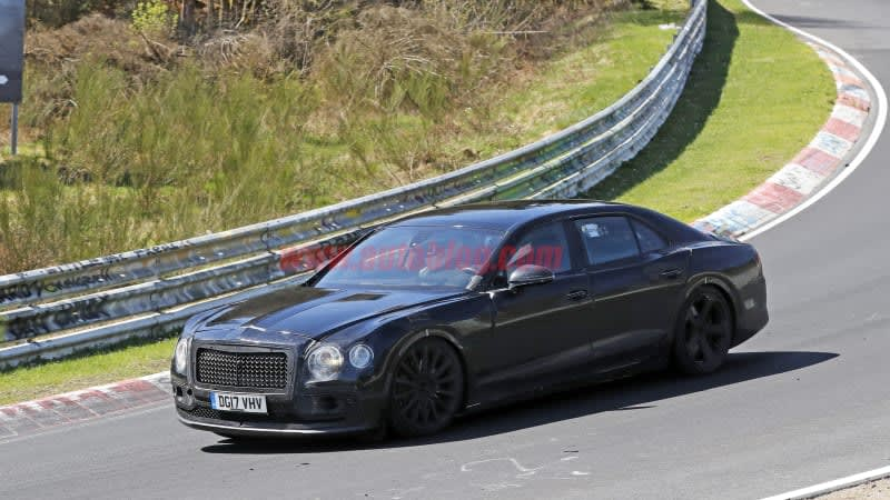 Bentley Continental Flying Spur spied lapping the 'Ring