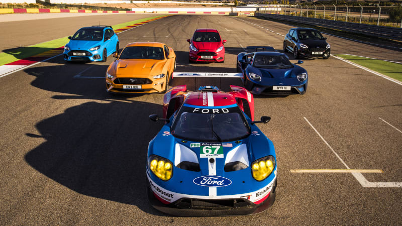 Ford GT, Mustang GT, Focus RS and more go head-to-head in Spain