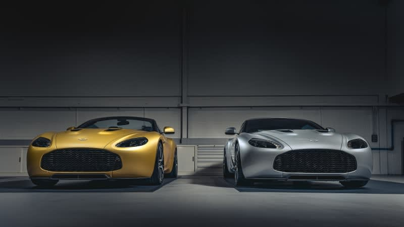 Zagato receives a pair of 600-hp Aston Martin V12s for its private collection