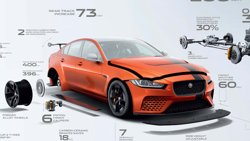 Jaguar's 600-hp XE SV Project 8 is the fastest Jaguar sedan ever