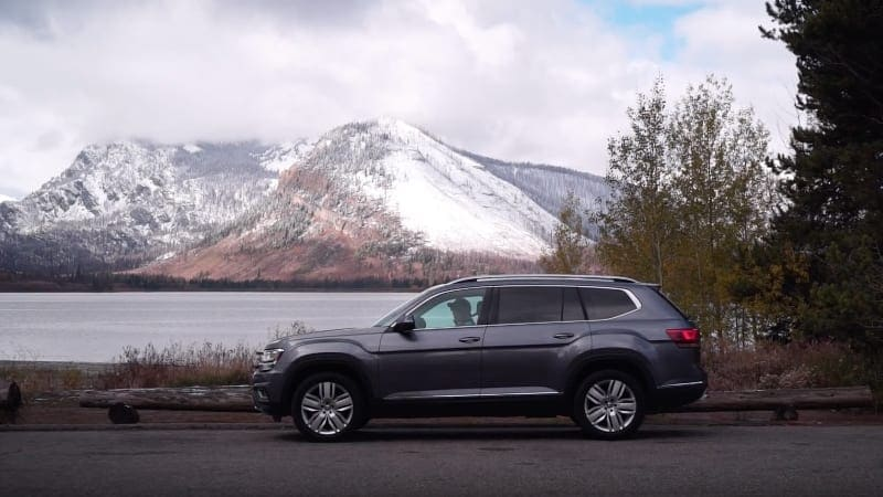 2018 VW Tiguan and Atlas in Yellowstone National Park