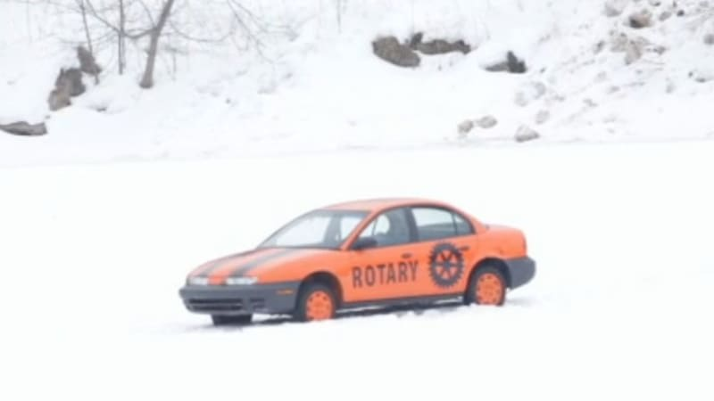 Guess when this Saturn will fall through the ice, win $1,000