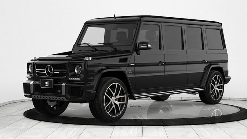 This 2018 Mercedes-AMG G63 limousine will stop bullets