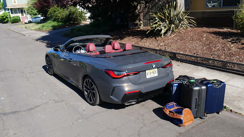 2021 BMW 4 Series Convertible Luggage Test   Pretty good, actually!