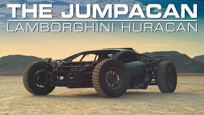 Lamborghini Jumpacan built to race The Mint 400 hits the dirt