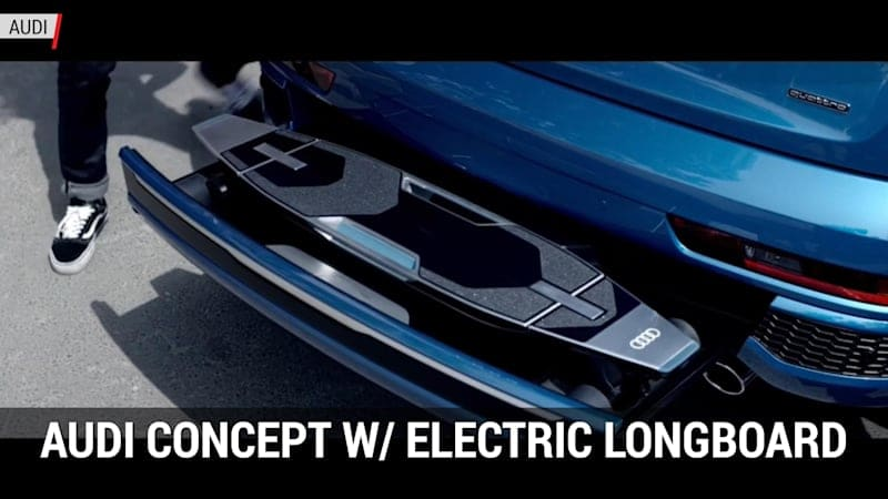 Audi's Connected Mobility Concept W/ Electric Longboard | Autoblog Minute