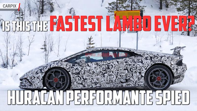 Lamborghini Huracan Performante Spied | Autoblog Minute