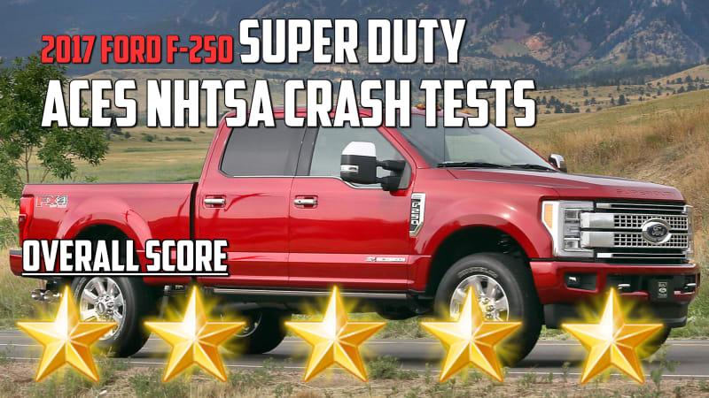 2017 Ford F-250 Super Duty aces NHTSA Crash Test | Autoblog Minute