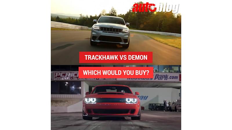 Grand Cherokee Trackhawk or Challenger SRT Demon