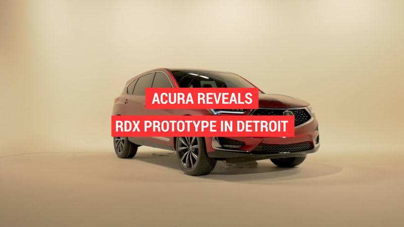 Acura RDX Prototype revealed at the Detroit Auto Show