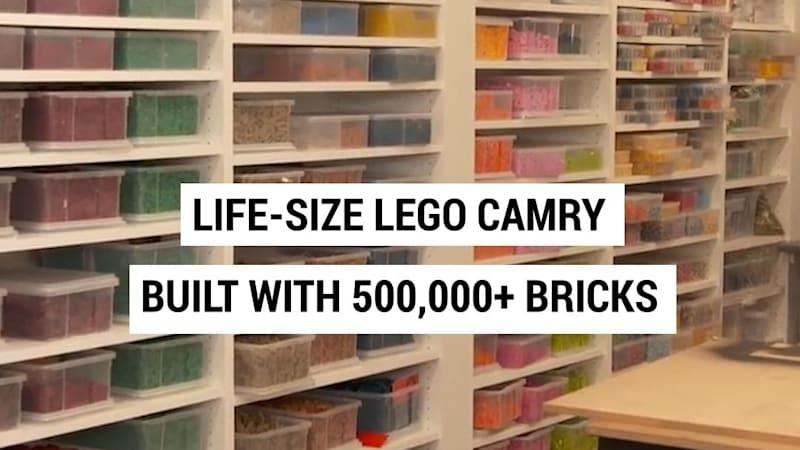 Master Lego builder creates a life-size Lego Toyota Camry