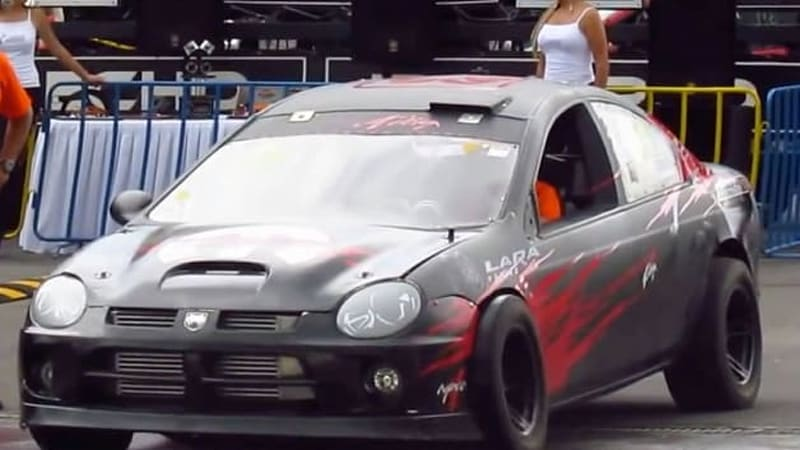 Watch dual-engined Dodge SRT4 do a FWD burnout, a RWD burnout, then AWD launch