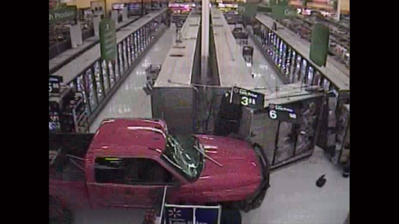 Angry teen drives Ram pickup into Walmart after argument with girlfriend
