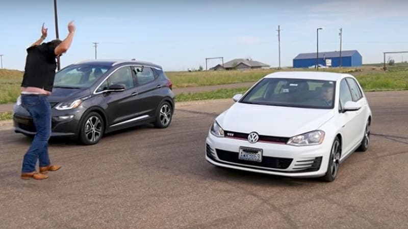 Chevy Bolt drag races VW Golf GTI - and there's a clear winner