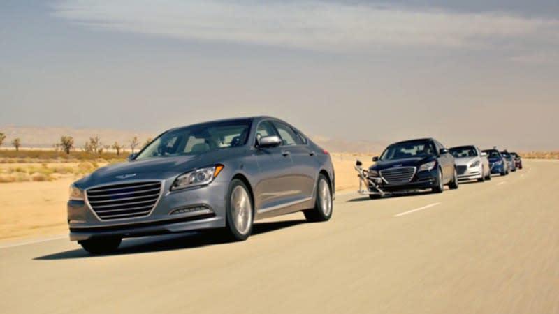 Hyundai Genesis says in the future, even car stunts will be autonomous