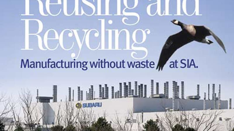 Raw materials go in, Subarus - and nothing else - come out of zero-landfill factory