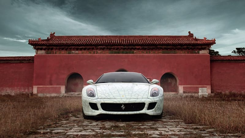 Fine China: One-off porcelain-finish Ferrari 599 special to be auctioned for charity [w/VIDEO]