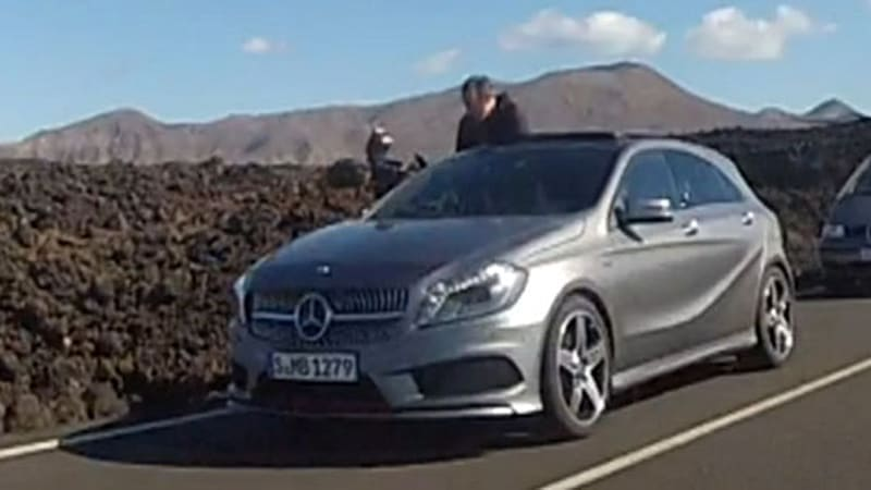 Production Mercedes-Benz A-Class spotted undisguised