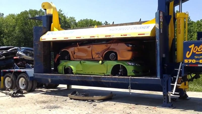 Watch Lexus SEMA showcars get crushed