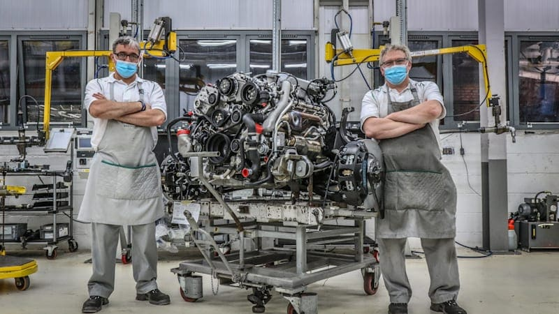 Bentley builds its final 6.75-liter V8, ending a 61-year production run