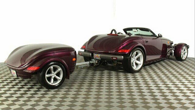 The Plymouth Prowler was so cool you could get a Prowler-shaped trailer for it