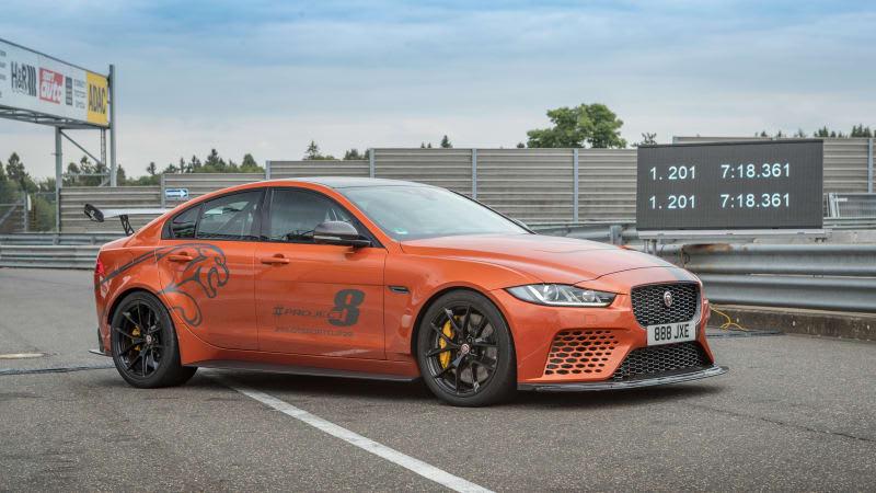 Jaguar XE SV Project 8 slices record Nüburgring lap down to 7:18.361