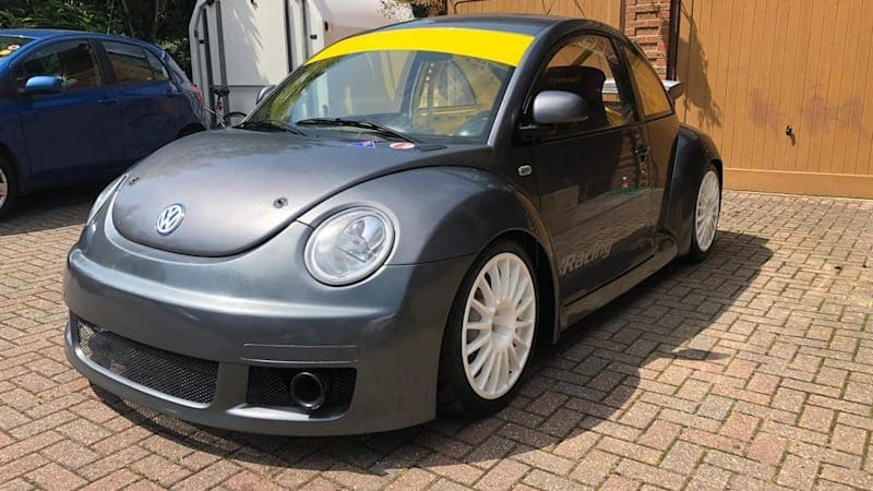 Show Herbie who's boss with this Volkswagen New Beetle RSi race car
