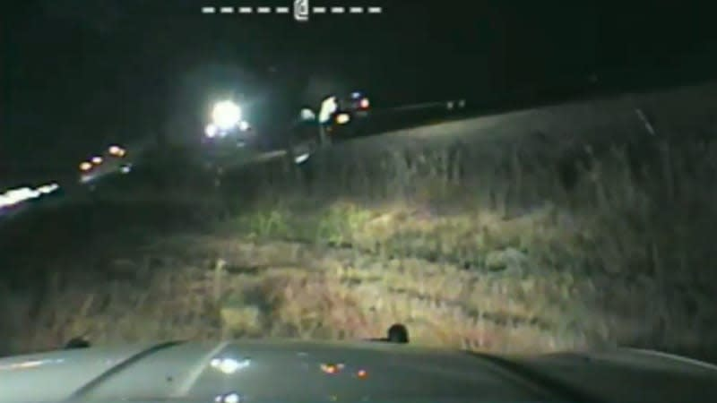 Watch trooper pull man from vehicle at last second before train hits