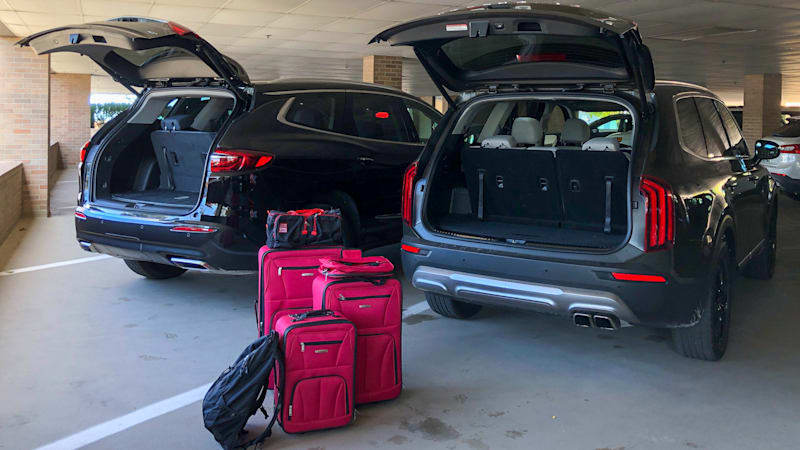 Kia Telluride vs Buick Enclave Luggage Test | What actually fits behind that third row?