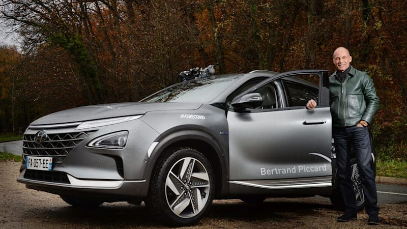 Hyundai Nexo breaks world record distance for hydrogen fuel cell vehicle