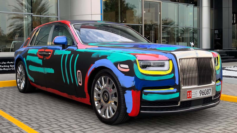 Artistic Rolls-Royce Phantom challenges the Cybertruck for 2019's most polarizing ride
