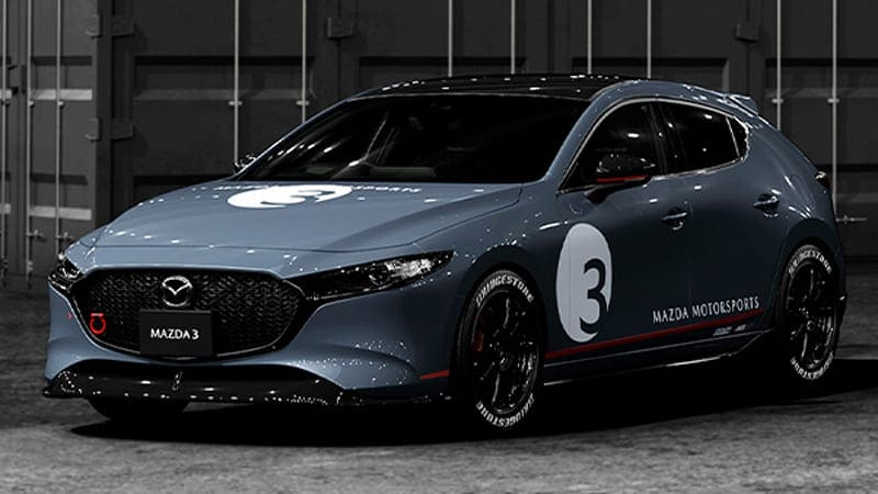 Race-inspired Mazda 3, CX-5, and Miata look great with white letter tires