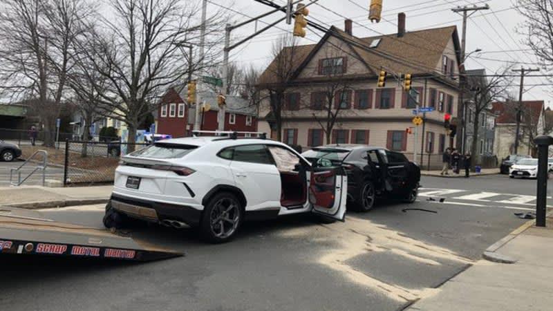 Watch teen thieves crash two stolen Lamborghini Urus SUVs
