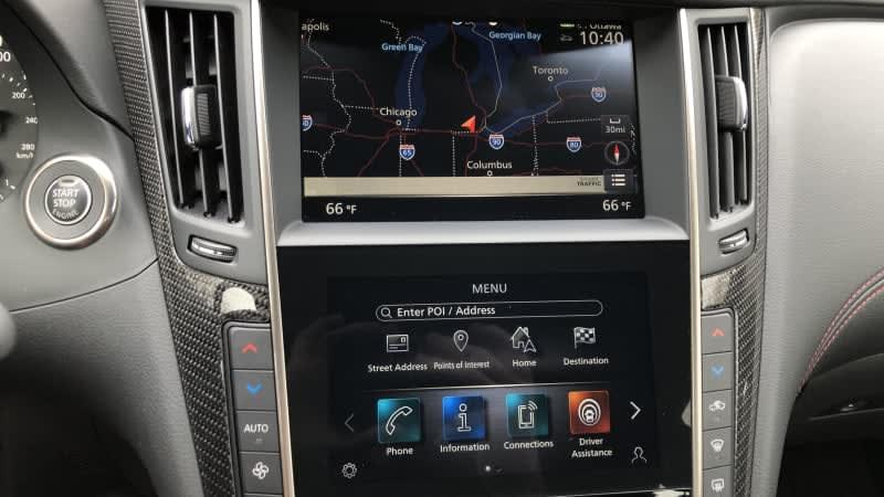 2020 Infiniti Q60 Infotainment Driveway Test | Baby steps forward
