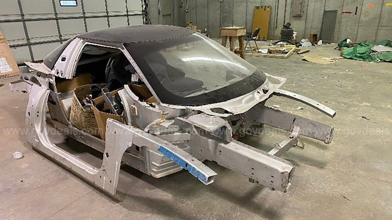 A chopped-up General Motors EV1 shell sold for $23,662