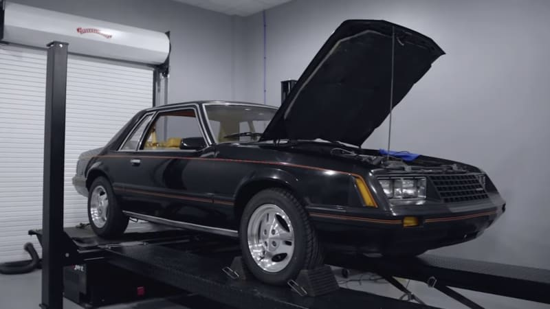 Watch a Fox-body Ford Mustang make a meager 64 horsepower on the dyno