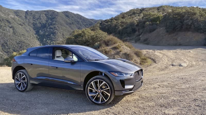 Off-roading in a 2020 Jaguar I-Pace HSE