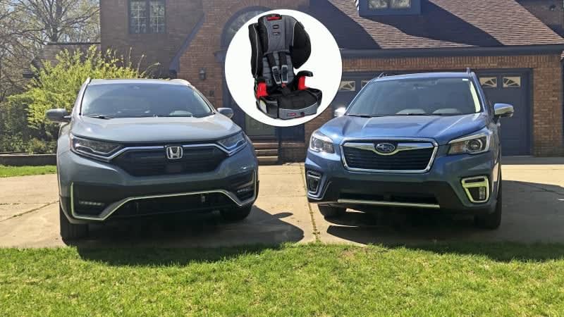 2019 Subaru Forester vs. 2020 Honda CR-V Car Seat Test | If we're picking sides ...