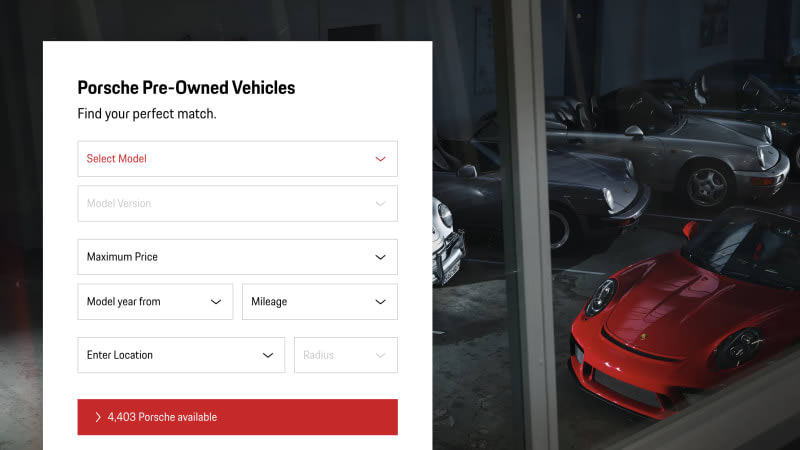 Porsche launches nationwide pre-owned site, and here are some cool cars we found