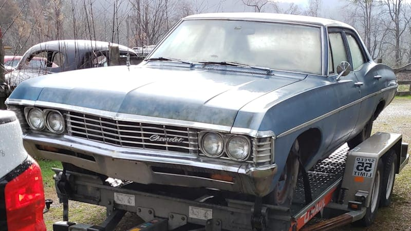 Angry she couldn't park in garage, woman has boyfriend's Impala project car junked