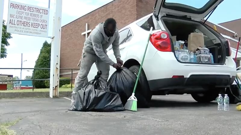 Buffalo teen gets car and scholarship after cleaning up after protest
