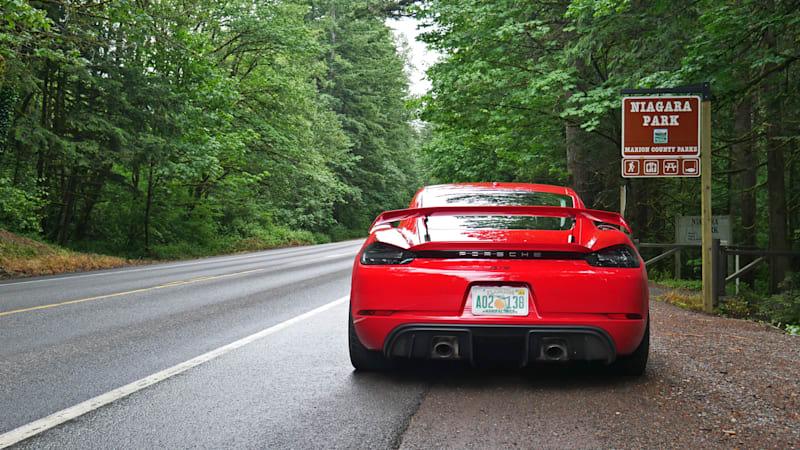 2020 Porsche 718 Cayman GT4 Exhaust Test   Sweet mechanical music