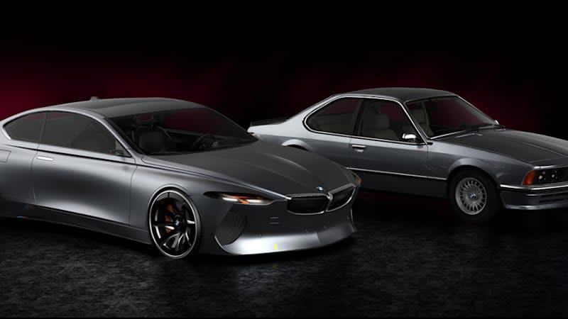 Designer's modern E24 BMW 6 Series is a sleek reinterpretation of a classic