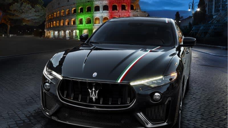 Maserati hand-painted tricolor stripe shows Italian pride — for a price