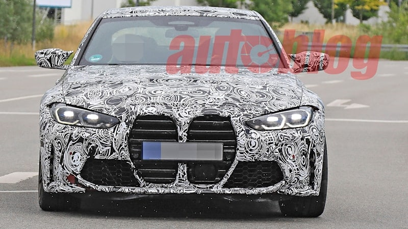 2021 BMW M3 and M4 grilles spied on road-going prototypes