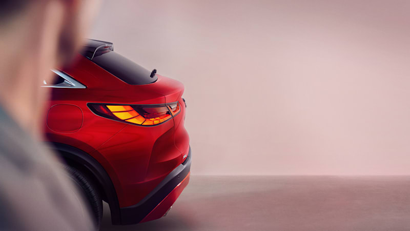 Infiniti teases November debut of new QX55 crossover-coupe