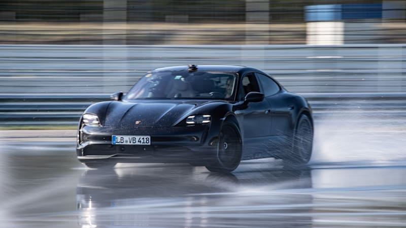 The Porsche Taycan sets Guinness world record for longest electric drift