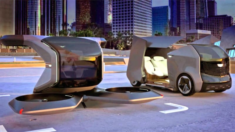 Cadillac imagines the future of luxury transportation with a drone and a pod