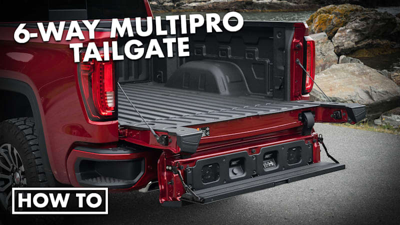 2021 GMC Sierra 1500 AT4 Driveway Test   How to use the GMC MultiPro Tailgate