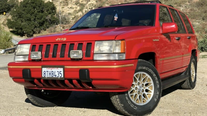 This first-year Jeep Grand Cherokee is a '90s time warp, and it's for sale